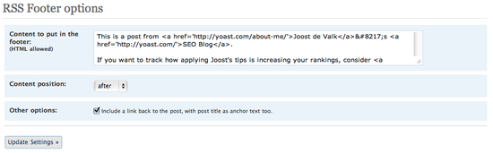 Image of rss footer options