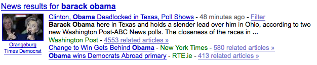 Image Google News example