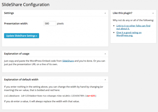 slideshare admin screenshot
