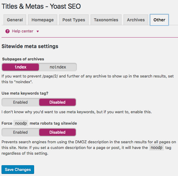 titles metas other tab in yoast seo