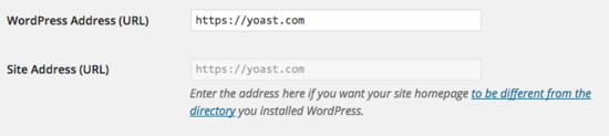 General settings URL