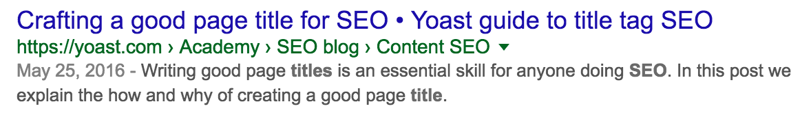 snippet title seo