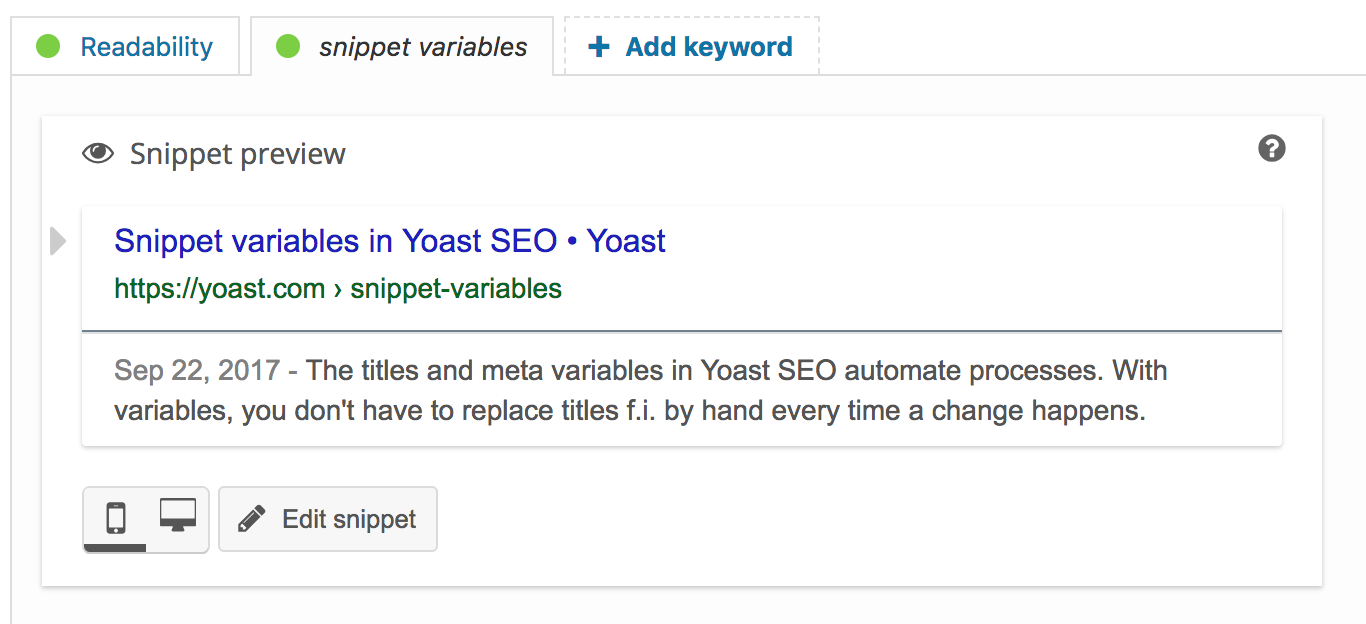 Snippet Preview How To For Yoast Seo For Wordpress Yoast