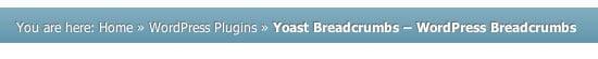 WordPress Breadcrumbs example