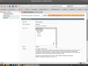 Example of the Magento Landing Pages module, click for larger version.