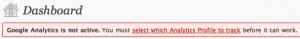 Not configured warning