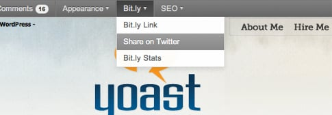 Bit.ly WordPress plugin adminbar item