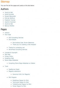 HTML sitemap for wordpress, as shown on Yoast