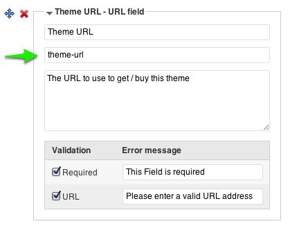 Custom field details - Types plugin