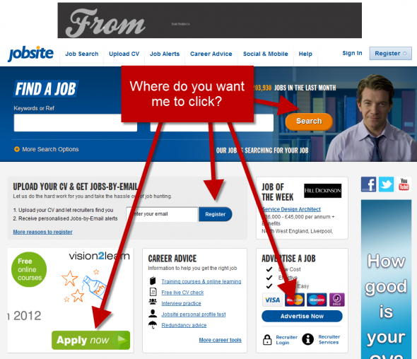 jobsite.co.uk screenshot