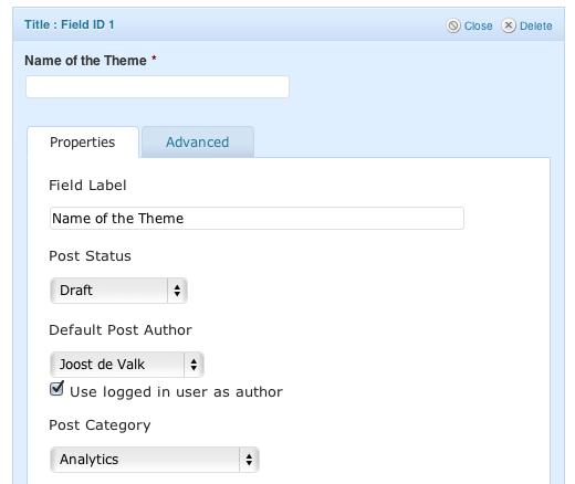 Post title - field properties