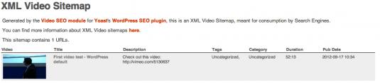 XML Video Sitemap