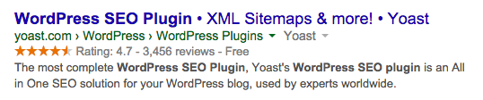 wordpress seo plugin rich snippet