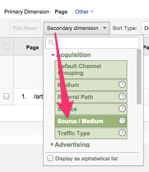 source/medium secondary dimension custom campaigns google analytics
