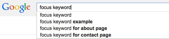 focus keyword search november 2014