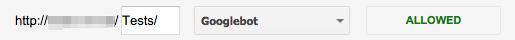 Google Webmaster Tools: robots.txt allowed