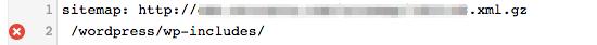 Google Webmaster Tools: robots.txt error