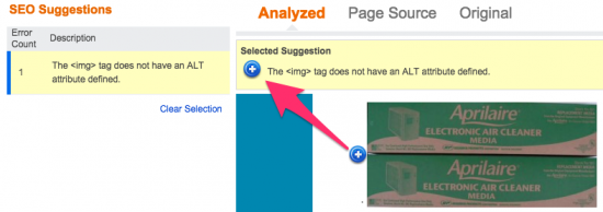 Bing Webmaster Tools: Missing ALT tag