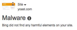 Bing Webmaster Tools: Malware
