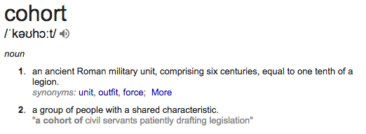 Cohort | Definition of Cohort by Merriam-Webster