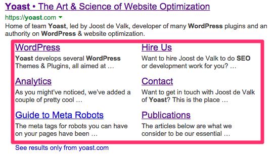 Bing Webmaster Tools - Deep Links