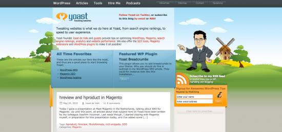 Yoast.com back in 2010
