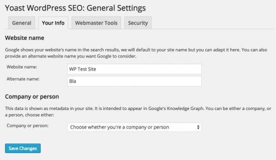 Website name input fields