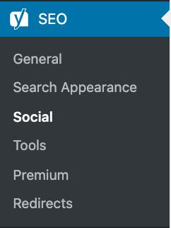 yoast menu social
