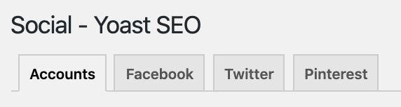 social accounts tab