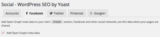 Facebook OpenGraph settings - WordPress SEO