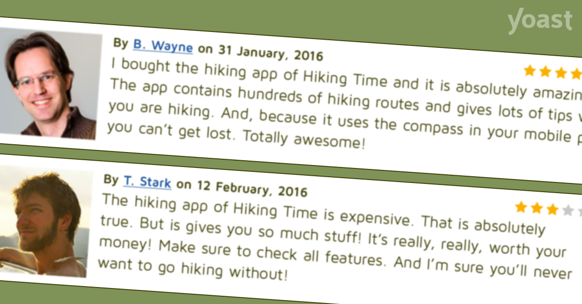 Testimonials: increase your visitor's trust