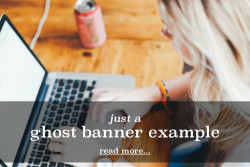 Ghost banner example