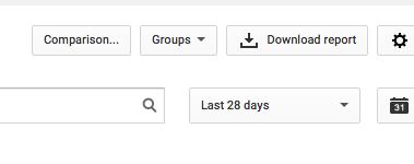 YouTube Analytics: comparison option