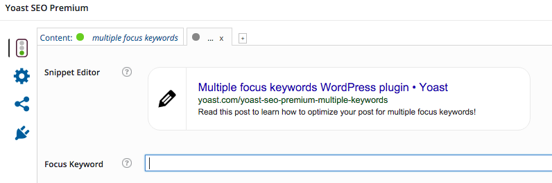 multiple focus keywords add a keyword
