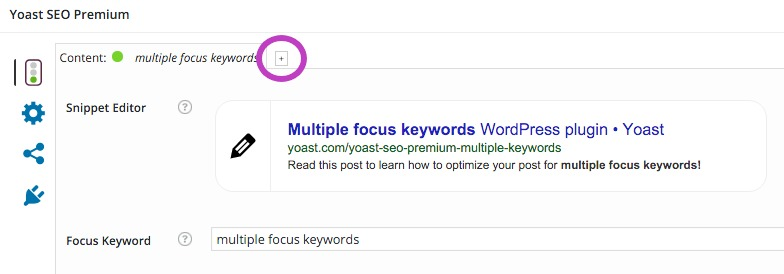 multiple focus keywords - how to add a tab for a new keyword