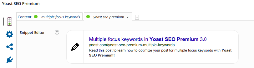 yoast seo premium multiple keywords