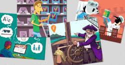 illustration of blog images