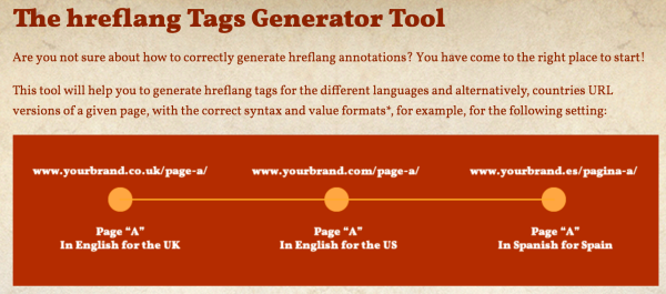The hreflang tags generator tool