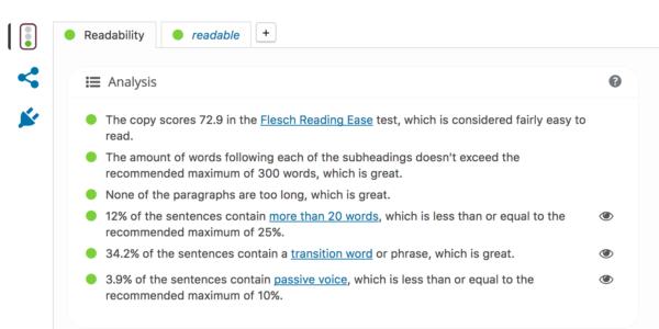 readability check screenshot