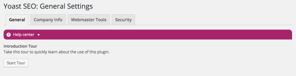 """Screenshot of the new help center, a purple bar in the admin page with a help icon and the text """"Help center"""""""