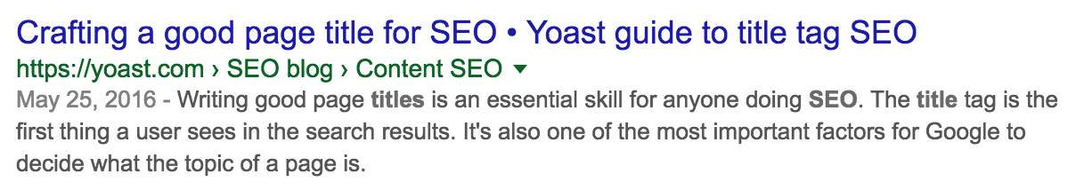 seo title length screenshot