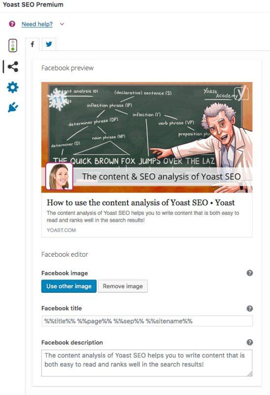social tab yoast seo premium