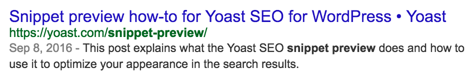snippet preview yoast seo example
