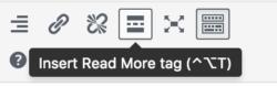 Insert More tag | Handy WordPress plugins