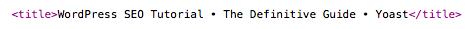 Metadata: the title element