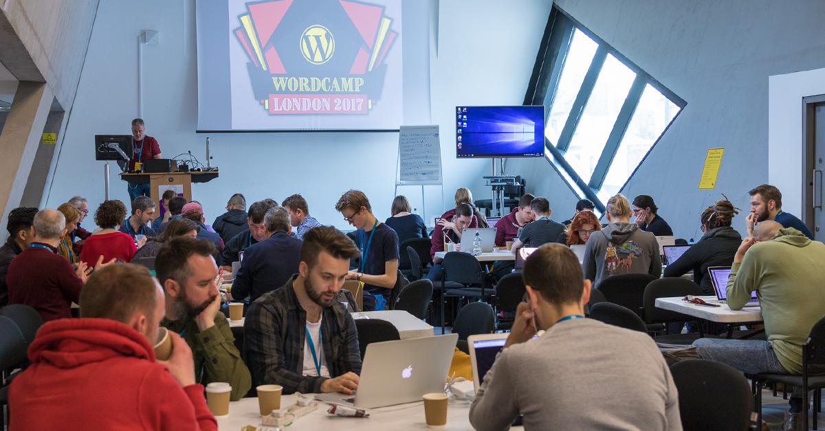 WordCamp London WordPress design