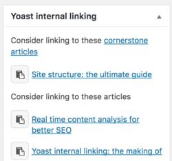 Priority cornerstone articles yoast seo premium