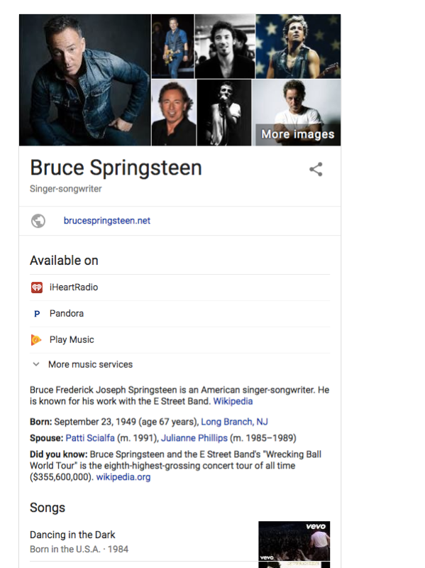 knowledge graph music
