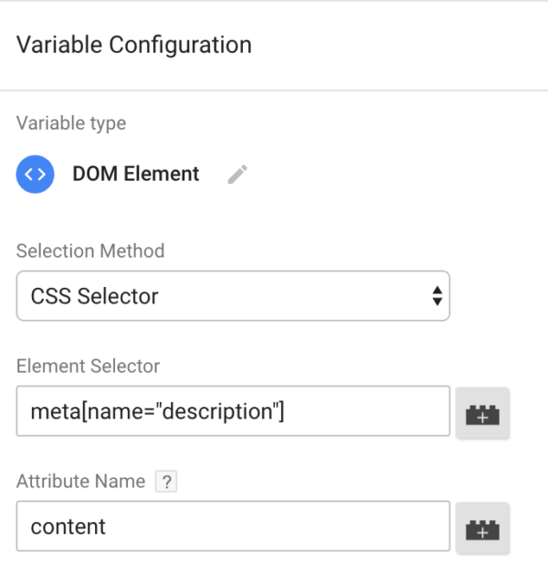 google tag manager structured data variable configuration
