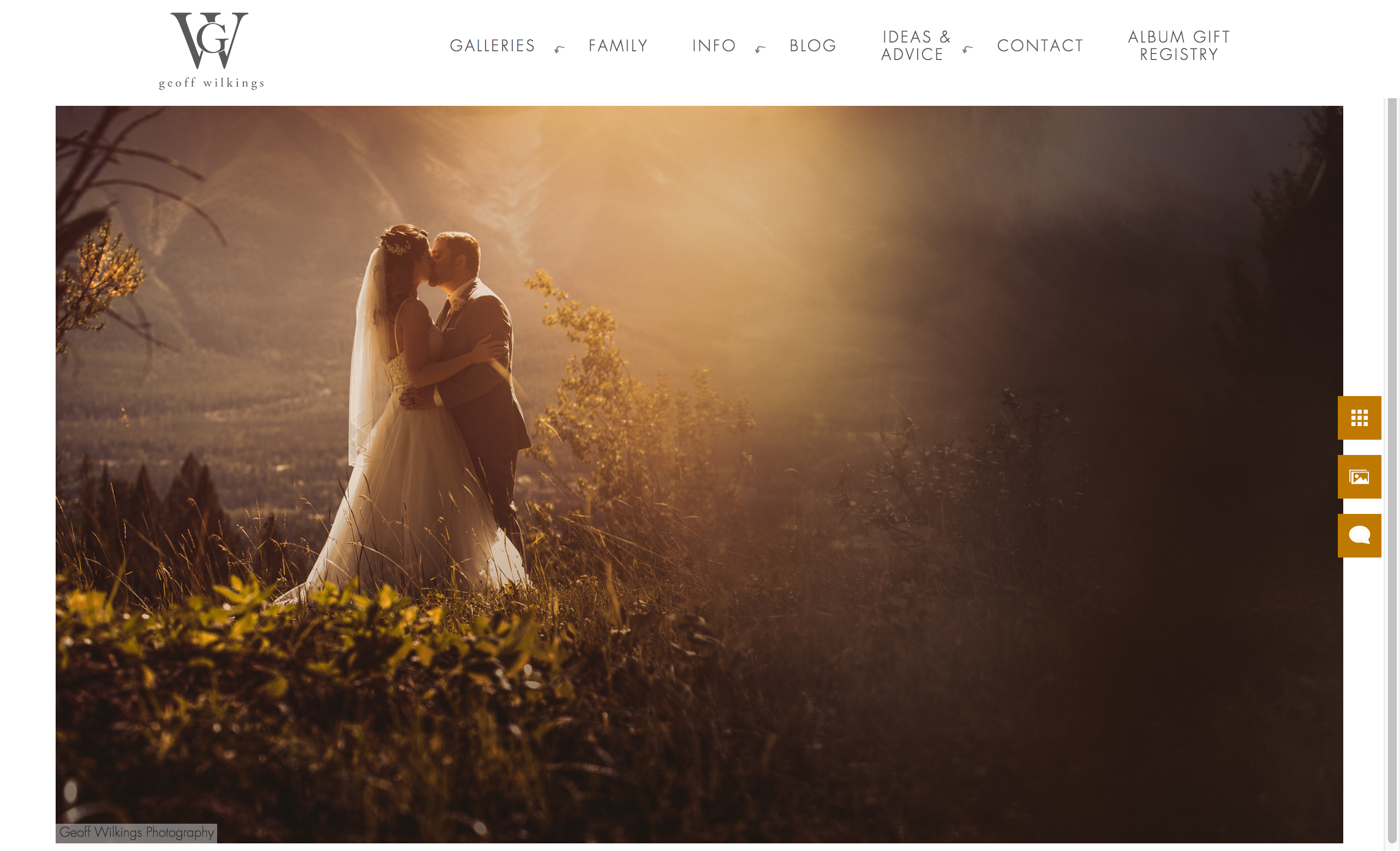 example of a gallery page with just one photo